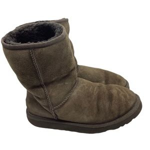 UGG Classic Short Boots Dark Brown Size 8